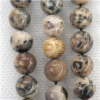 round Coral Fossil Beads, approx 12mm dia [GB10686-12MM]