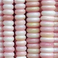 pink Queen Shell heishi Beads, approx 3x10mm [GB10855-3X10MM]