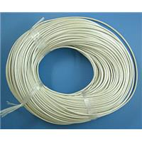 White Leather Rope Cord Jewelry Binding, 1.5mm thick, pearl color [WIRELT007-P]
