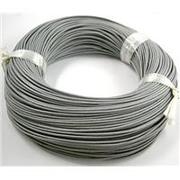 Gray Leather Cord For Jewelry Binding, 1.5mm thick, pearl color [WIRELT009-P]